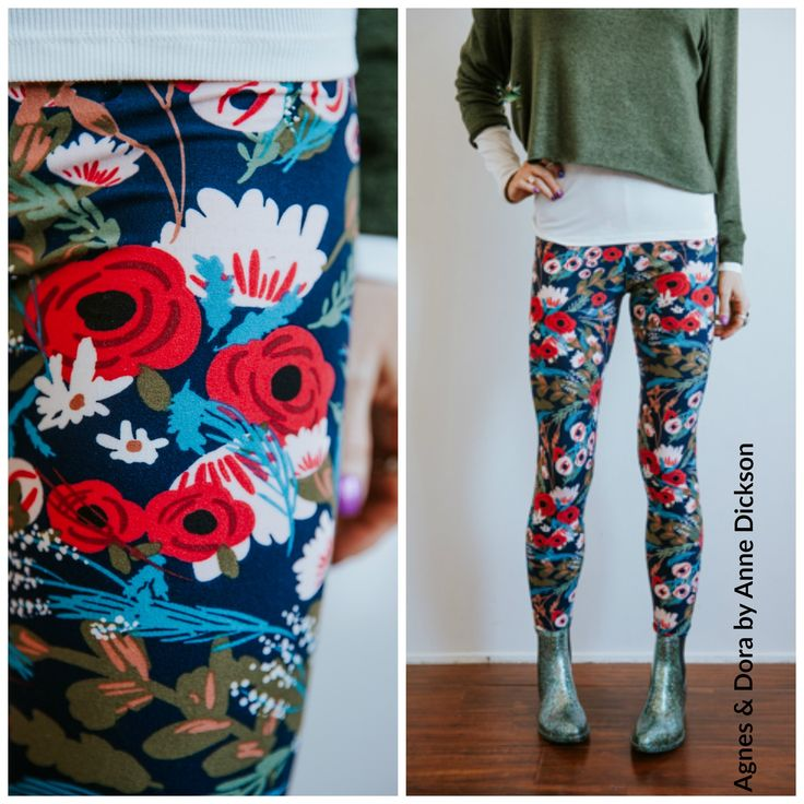 Blooming beauty Agnes and Dora leggings. Floral print