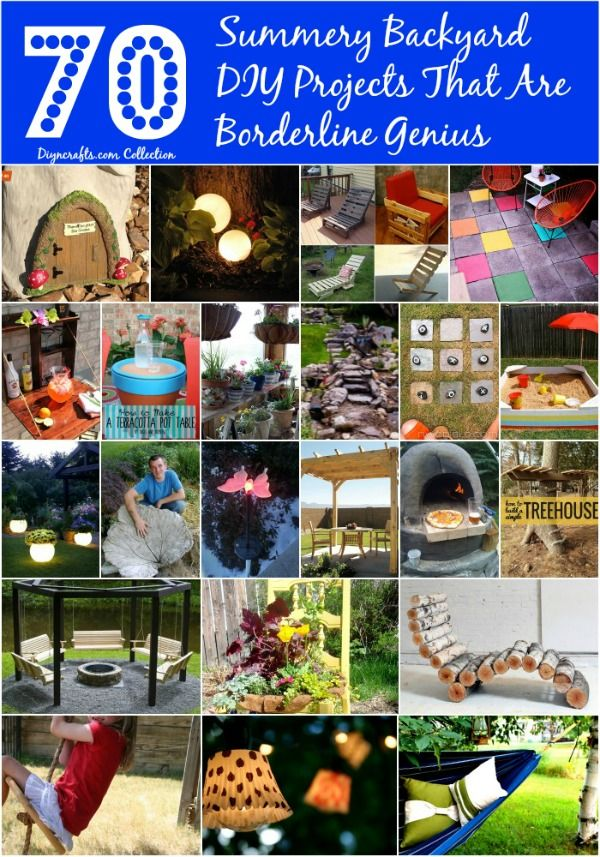 70 Summery Backyard DIY Projects That Are Borderline Genius - From planting a small flower garden to sprucing up your outdoor furniture, many of these projects will take you less than a day to complete and some may not cost you anything at all if you have a few basic supplies on hand. Go ahead and get ready for summer by adding some beauty to your outdoors. From DIY stepping stones to marvelous outdoor patio furniture that you can make yourself, this collection has it all. #backyard #diy…