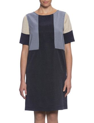 TRANQUILITY COLOUR BLOCK DRESS