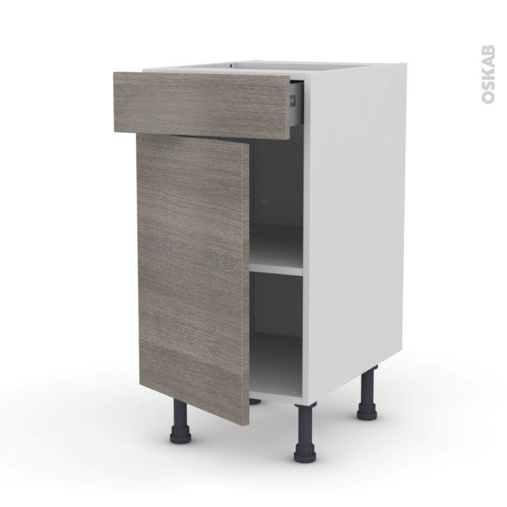 Interior Design Meuble Bas De Cuisine Meuble Cuisine Bas Stilo Noyer Naturel Porte Tiroir L40 H70 L40xh70xp58 Oskab Locker Storage Commercial Interiors Storage