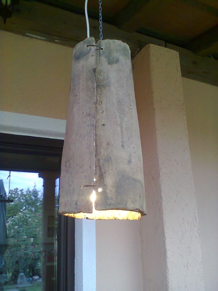 DIY porch lamp - old roof Tiles and wire