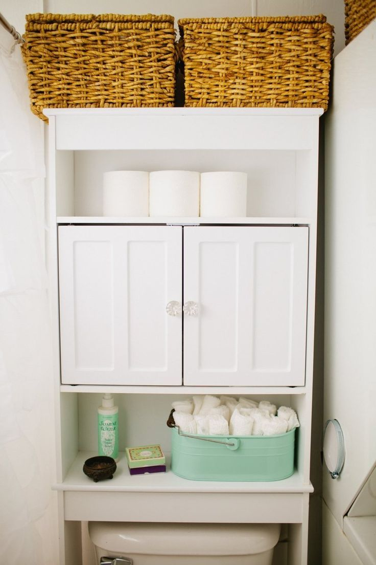 Bathroom Shelving Unit For Above The Toilet In A Small Bathroom.