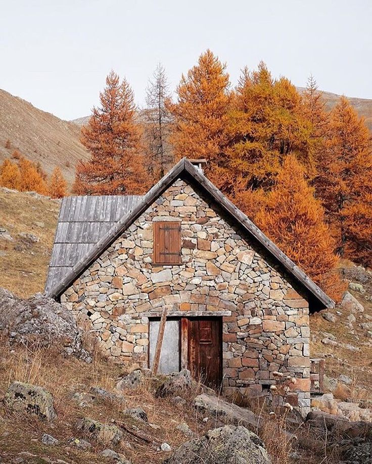 A life well lived.  #getoutdoors #upknorth  Stone cabin, wood fireplace. Awaiting winter in the mountains shot by @arnaudteicher