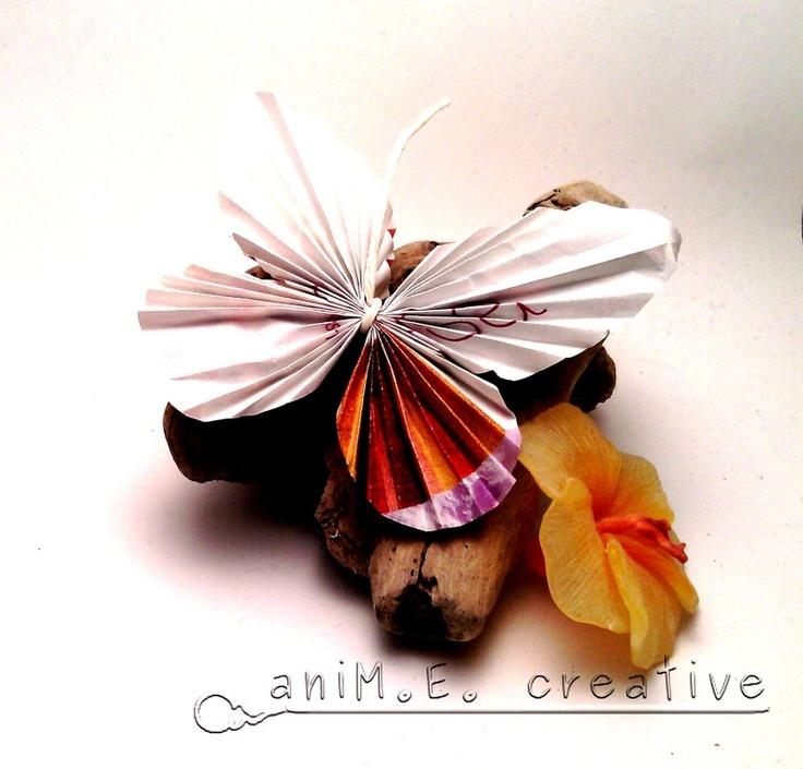 aniM.E.creative: E' primavera! Tutorial farfalle di carta...