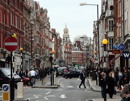 Marylebone High Street.  Probably the most beautiful and interesting street in London.
