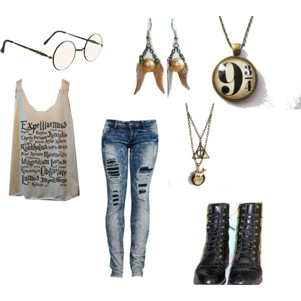 """""""Harry Potter Outfit"""" by burgandycobain on Polyvore"""