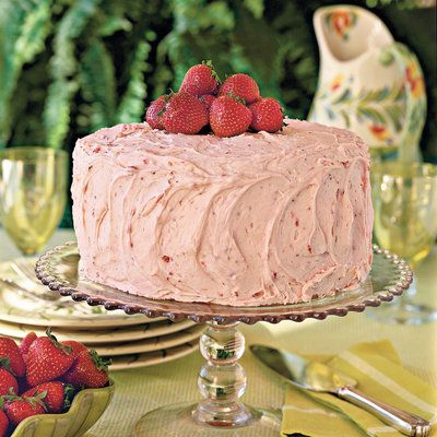 Strawberry Buttercream Frosting - Homemade Buttercream Frosting Recipes - Southern Living