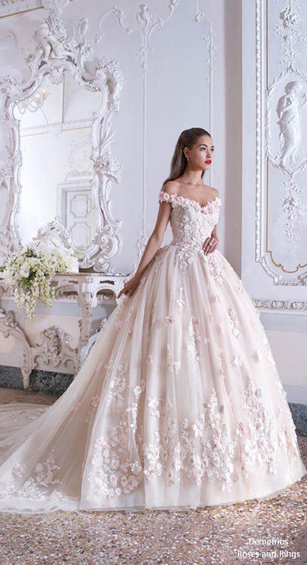Platinum By Demetrios 2019 Wedding Dresses Pink Wedding Dresses
