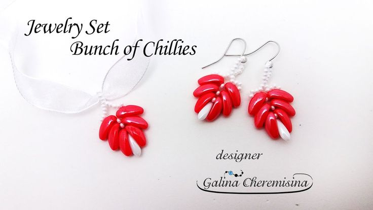 DIY: Jewelry Set  Bunch of Chillies [Video Tutorial]