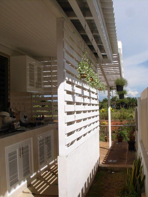 ตัวอย่างแบบครัวไทยแบบเปิดสวยๆ สวนหลังบ้าน บริเวณนอกบ้าน