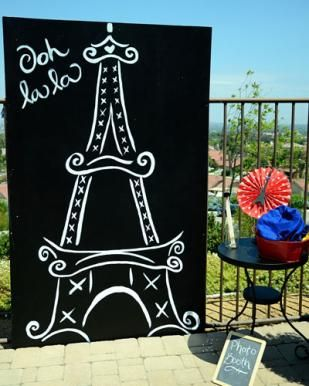 Paris Theme Party--make fancy hats, have caricature painted, pink crepe paper rose balls, fashion show, patisserie, make bows and jewelry