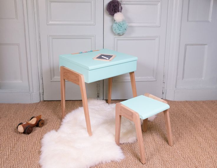 A small child's style office desk with soft rounded contemporary lines -  Small Children's Bureau from