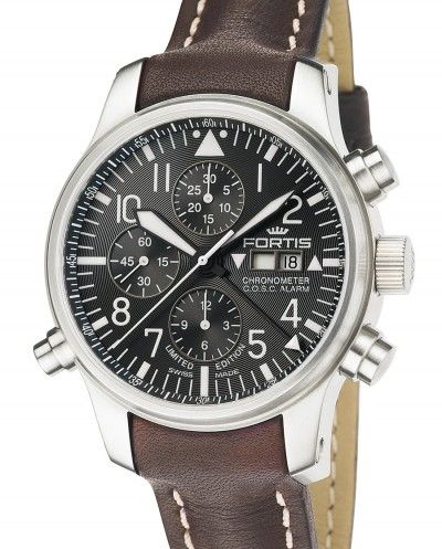 fortis watches | Fortis | F-43 Flieger Chronograph Alarm Chronometer C.O.S.C | Steel ...
