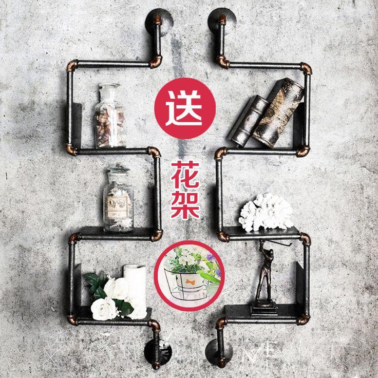 Continental industriële water separator plank planken retro pijp wandplank decoratieve muur bloem bar achtergrond in 1___ van draaibare platen op AliExpress.com | Alibaba Groep