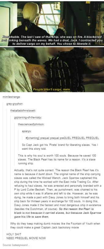 Pirates of the Caribbean tumblr post