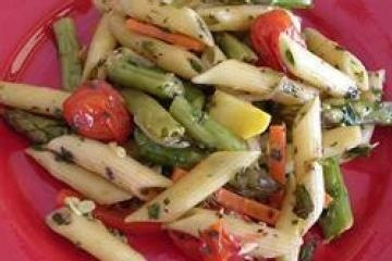 No-Cream Pasta Primavera-made this without the butter (used only EVOO) and used angel hair pasta and fresh shredded parmesan.  Was amazing!!