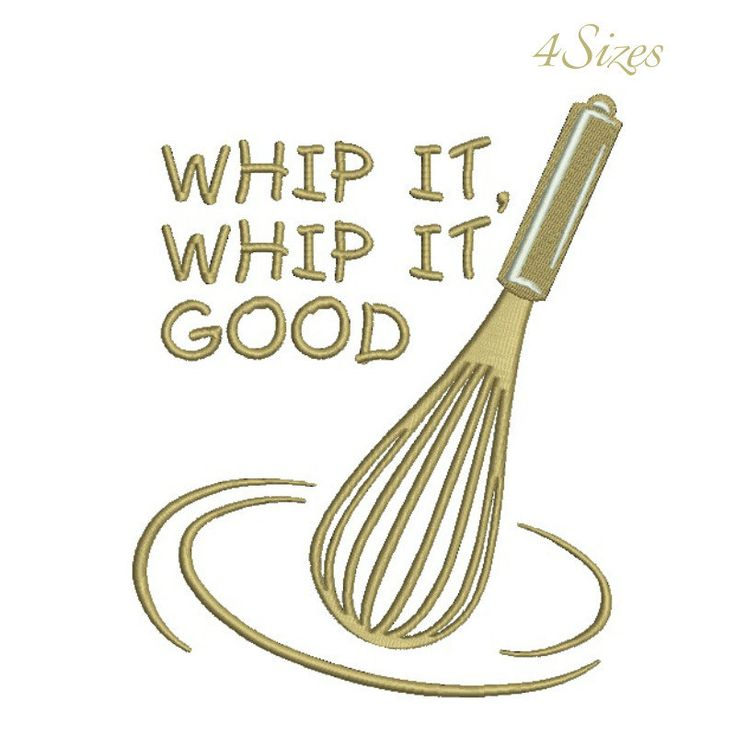 Whip it good machine embroidery design,egg-beater kitchen design,digital download, pattern,kitchen,mom,cuisine by GretaembroideryShop on Etsy