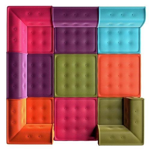 modular sofa mahjong 3d model furniture en 2019. Black Bedroom Furniture Sets. Home Design Ideas