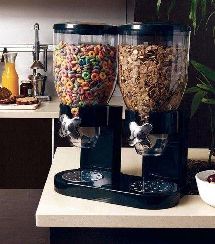 Achetez le distributeur de céréales double sur lavantgardiste. Pour doser votre bol de céréales à la perfection, dès le matin.