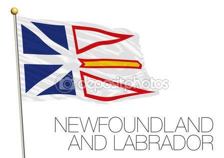 Bandiera di Terranova e Labrador, Canada — Vettoriali Stock © frizio #120165634