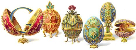 An egg-quisite Google Doodle celebrating the 166th anniversary of Peter Carl Fabergé's birth166Th Birthday, Fabergé Eggs, Faberge Eggs, Carl Fabergé, Peter O'Tool, Google Doodles, Easter Eggs, Carl Faberge, Peter Carl