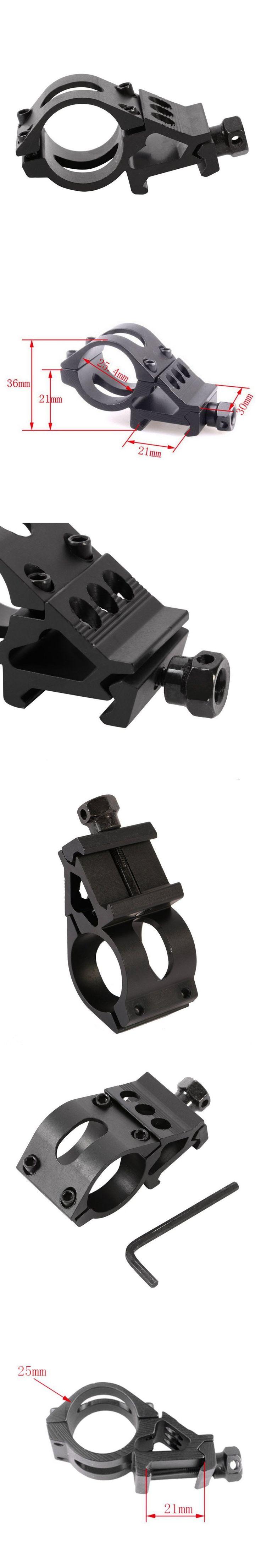 25mm Scope Mounts Flashlight Torch Laser Mounts + Allen Key Ring Tactical Scope Sight for 20mm Standard Picatinny/Weaver Rail