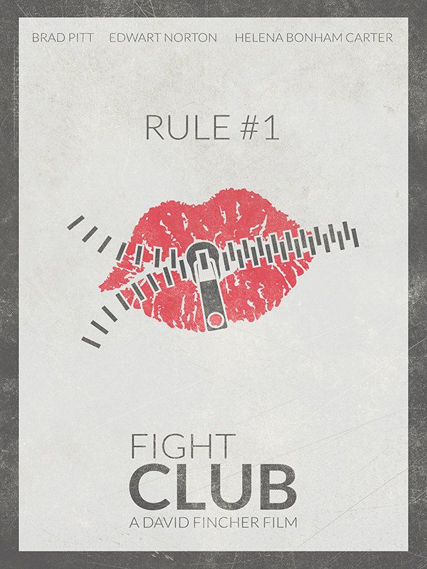 FIGHT CLUB Movie Poster Brad Pitt Print Poster by BaydleCreative