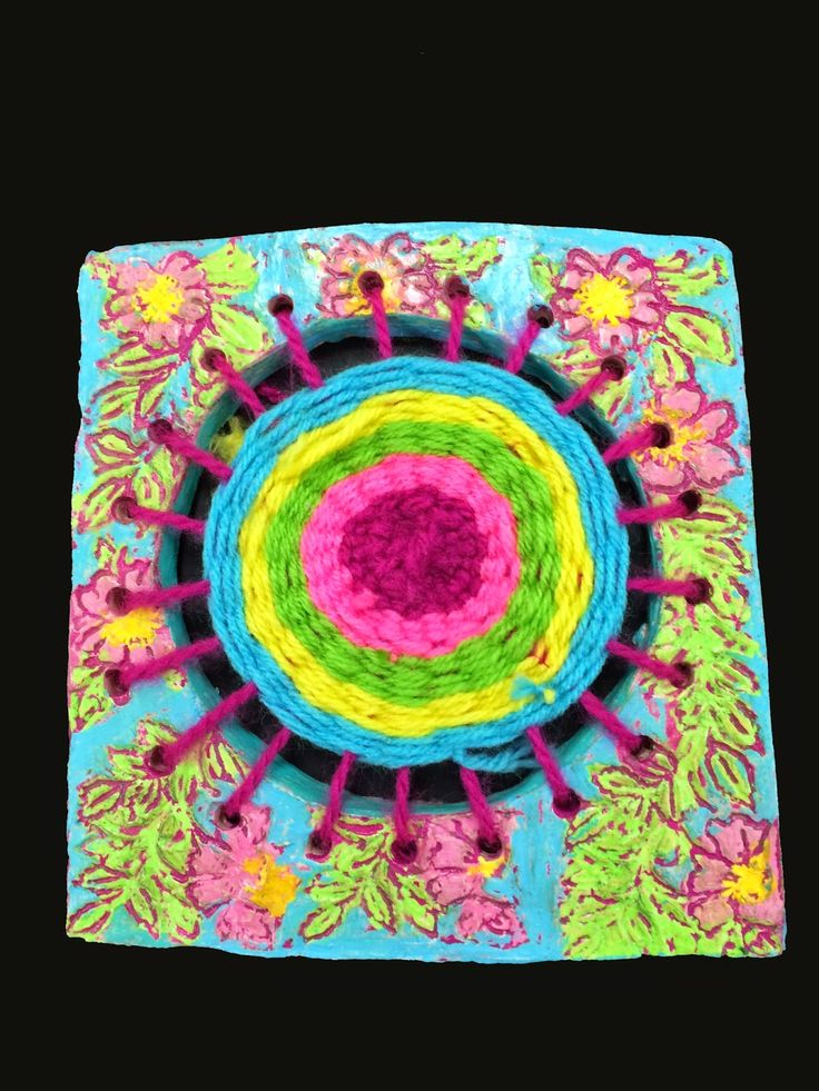 It is Art Day!: Clay Circle Frames