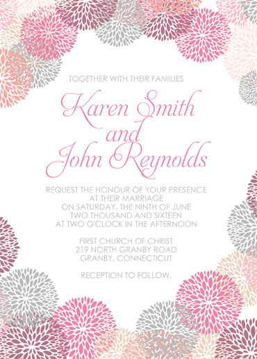 Charming Flower Works FREE Wedding Invitation Template. Download Now For Free.