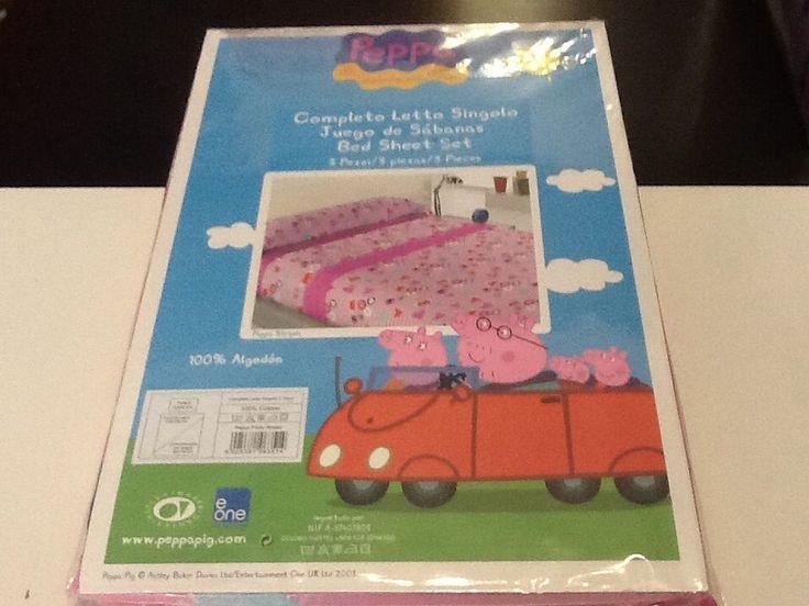 Completo letto singolo tre pezzi Peppa Pig idea regalo SCONTO 30%