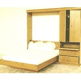 Found it at Wayfair - Transitional Murphy Bed.  Try whitewash birch with black arts and crafts handles.  $2758.49 for queen size, whitewash birch.