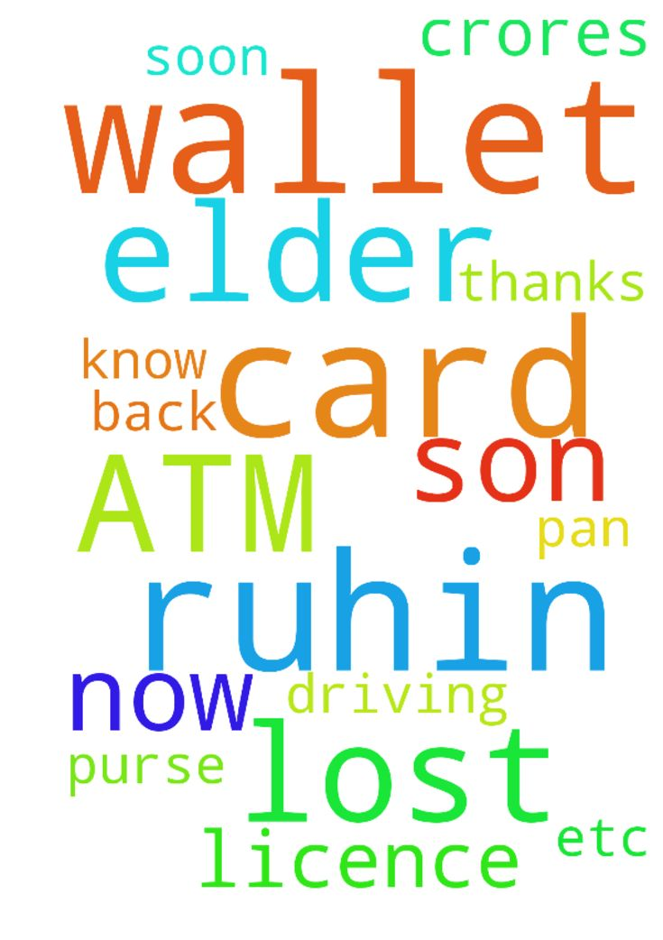 My elder son RUHIN has lost his Wallet now . His ATM - My elder son RUHIN has lost his Wallet now . His ATM card, PAN card, Driving licence etc . are in that purse. Please pray for RUHIN to get back his all cards amp; WALLET very soon. I know only JESUS Can do it for us. Crores of thanks to JESUS. Posted at: https://prayerrequest.com/t/yvt #pray #prayer #request #prayerrequest