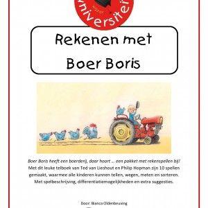 Rekenen-met-boer-boris Dit pakket bevat 10 spellen op basis van het telboek van Ted van Lieshout en Philip Hopman, waarmee alle kinderen kunnen tellen, wegen, meten en sorteren. Met spelbeschrijving, differentiatiemogelijkheden en extra suggesties.