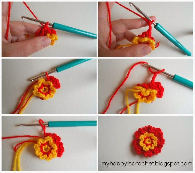 My Hobby Is Crochet: Simple Dainty Flowers - Free Pattern with Photo Tutorial