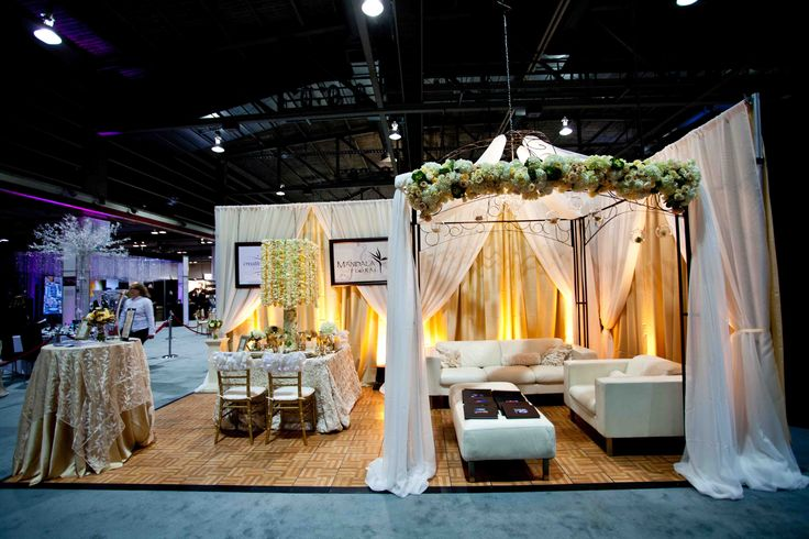 Best Bridal Show Booth | our 2012 booth at calgary s wedding fair in shades of cream gold and ...