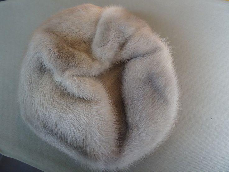 hoed muts bont grijs
