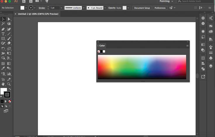 De Pattern die hier te zien is Movable Panels.  De app is Adobe Illustrator.