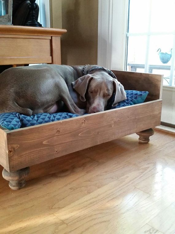 Custom Wood Dog Bed by PeaceLoveWood on Etsy