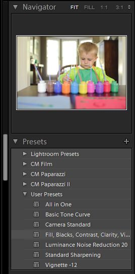 creating presets in lightroom