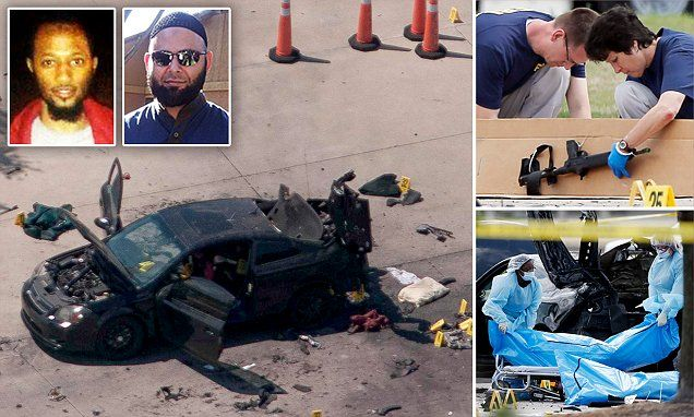 Isis has claimed responsibility for Garland shooting in Texas.  Former terror suspect well known to the FBI is named as one of two gunmen shot dead by cops after attack on anti-Islam 'draw Muhammad' art contest near Dallas