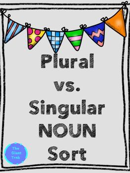 Hello,Included in this activity is a plural vs. singular noun sort.  There are 18 words for students to sort into two categories.  Included in the packet are definition strips for plural and singular nouns for students to use if they need a reminder. Two different recording sheets are included; there is one sheet with regular lines and one sheet with dotted lines.
