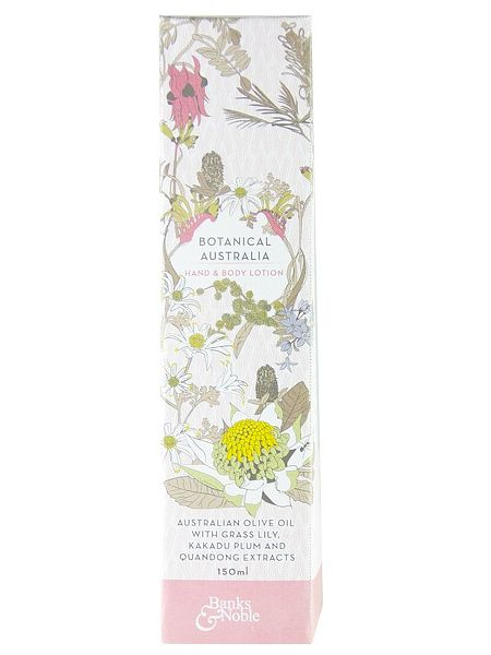 Botanical Australia Hand & Body Lotion. $18.75 Nourishing, natural and divinely scented. Made with the finest Australian Olive Oil and Australian Botanical Extracts of Grass Lily, Quandong and Kakadu Plum this body lotion repairs dryness and keeps skin soft, moisturised and looking beautiful. This product contains No SLS, SLES, DEA, TEA, Parabens, silicones, artificial fragrances, synthetic colours, animal derivatives, glycols, petrochemicals, or phlatates. Not tested on animals.