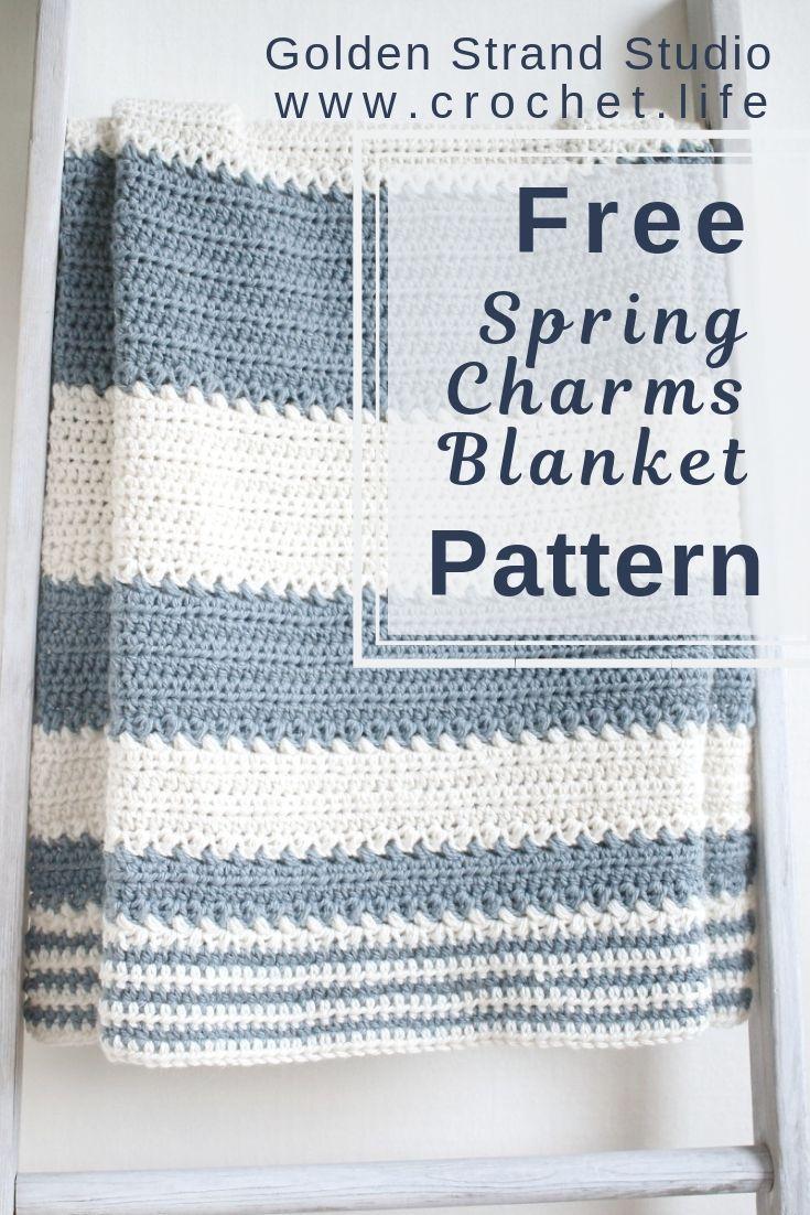 Easy Baby Blanket Free Crochet Pattern By Goldenstrandstudio Com Cr Crochet Baby Blanket Free Pattern Baby Blanket Crochet Pattern Baby Boy Crochet Blanket