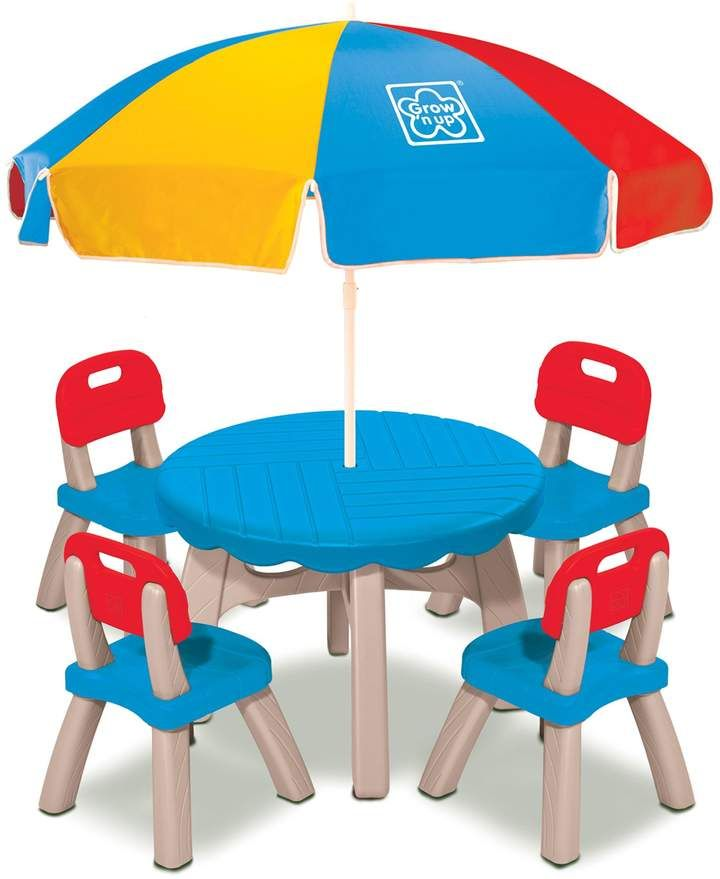 grow n up 4 seat patio set with umbrella high chairs functional rh pinterest ca
