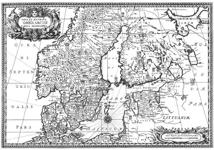 Dahlberghs karta över Norden | Mimer bokförlag