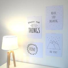 """Affiche """"enjoy the little things"""" format 21x29.7, pour se mettre de bonne humeur"""