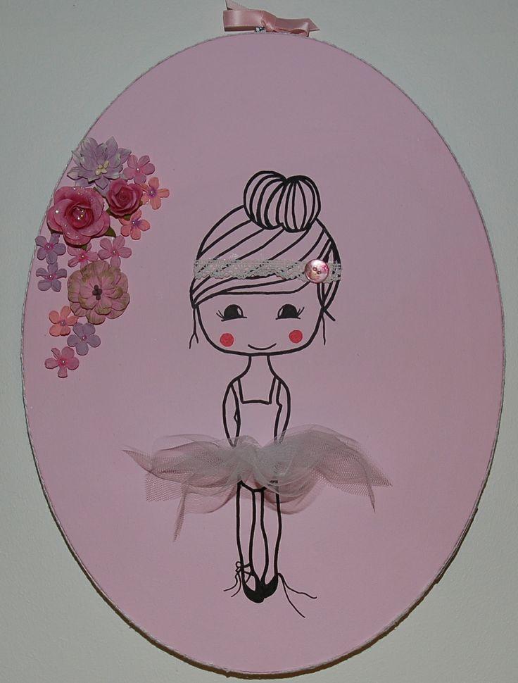 Snoezig ovaal (30x40) 3D schilderij voor baby of kinderkamer.
