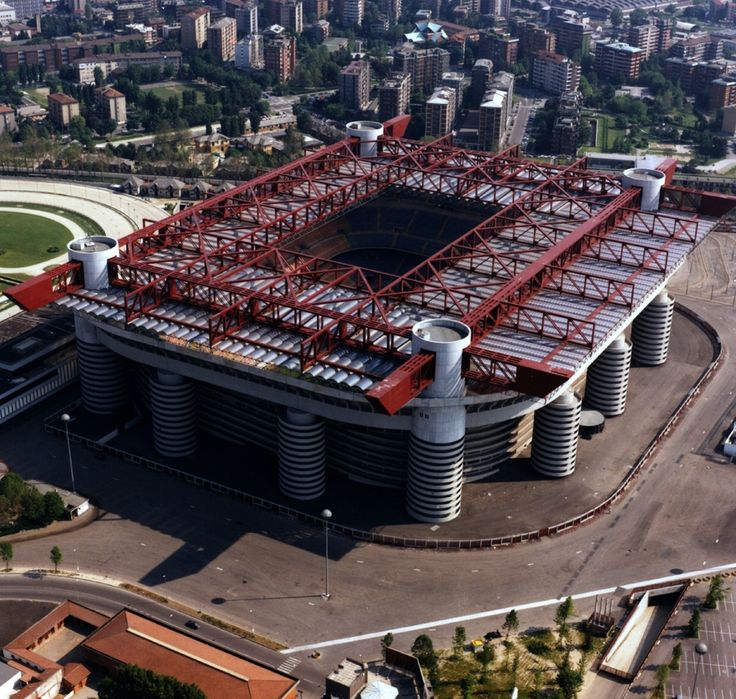 Stadio San Siro Park Giuseppe Meazza Temple of Milan - Home of Internazionale and Milan