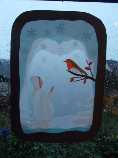 Jahreszeitentisch -  Transparentbild Winter - ein Designerstück von Puppenprofi bei DaWanda