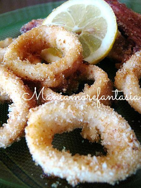 Provate questi anelli di calamari al forno, sono buoni e croccanti come quelli fritti, ma molto più leggeri. Per la ricetta cliccate sul link.